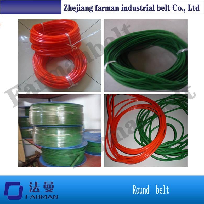 one meter diameter10mm green PU round belt synchronous belt driving conveyor belt PU green coarse surface belt 1pcs contrast pu wide belt