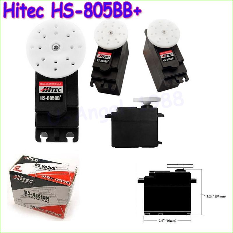 все цены на 1pcs 100% Original Hitec HS-805BB+ 152g / 24.7 kg / .14 sec major high torque servo / HS-805BB Analog Servo Drop free shipping онлайн