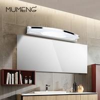 mumeng LED Wall Lamp Modern Bathroom Light 8W Acrylic Mirror Light Fixture Stainless steel Wall Sconce Canbinet Luminaire