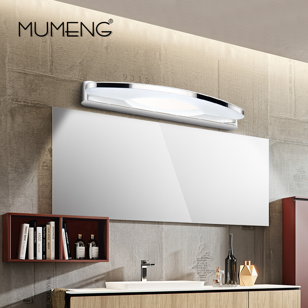 mumeng LED Wall Lamp Modern Bathroom Light 8W Acrylic Mirror Light Fixture Stainless steel Wall Sconce Canbinet Luminaire modern led bathroom light stainless steel led mirror lamp dresser cabinet waterproof sconce indoor home wall lighting fixtures