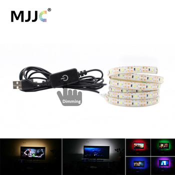 USB LED Strip Dimmable DC5V Tape Touch Waterproof 1M 2M 3M 4M 5M Stripe Ribbon for Kitchen TV Backlight
