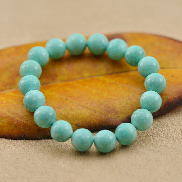795a6db31 ... Wholesale 5A Fashion Nature Amazonite Amazon Stone Beads Charm Bracelets  Bangles for Men Women Crystal ...