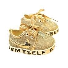 Nouvelle Arrivée 11-13 cm Mignon Infant Toddler Bébé Chaussures Fille Garçon Doux Sole Sneaker Prewalker Première Walker Berceau Sport