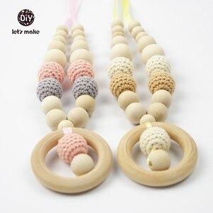 Image 5 - それでは編みビーズ木材 50pc 30 ミリメートル 20 ミリメートル 3/4 インチ編みラウンド木製ビーズボールニット歯が生えるウッドビーズ色を選択