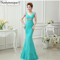 2019 Free shipping Red/Pink/Blue stretchy beaded Party Prom Gowns Formal Evening dresses vestidos de fiesta Abendkleider H0608
