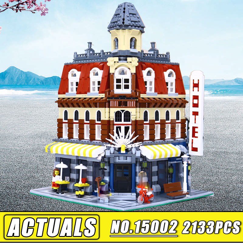 Bei Fen City Series Lepin 15002 Cafe Corner 2133PCS Model Building Kits Blocks Kid DIY Bricks Toy Gift Compatible 10182 Gift lepin 02012 city deepwater exploration vessel 60095 building blocks policeman toys children compatible with lego gift kid sets