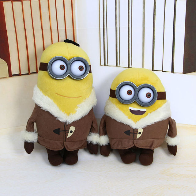 My Plush Toy Minion Figure Bob Kevin 30cm Boneco Despicable Banana Yellow Minions  Stuffed Animals Peluche
