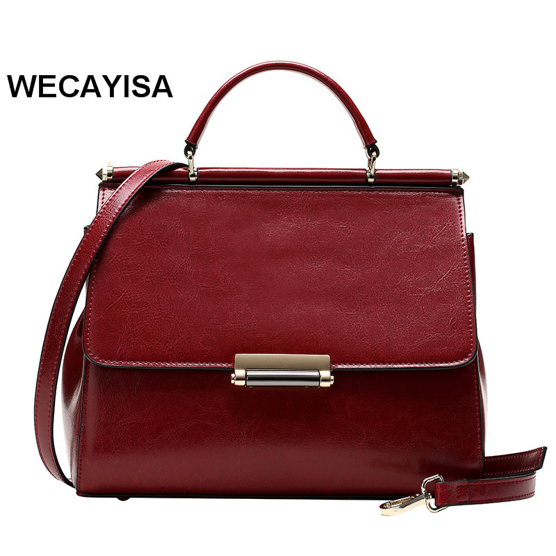 ФОТО 2017 spring and summer all-match women's handbag wax fashion cowhide handbag fashion genuine leather one shoulder cross-body bag