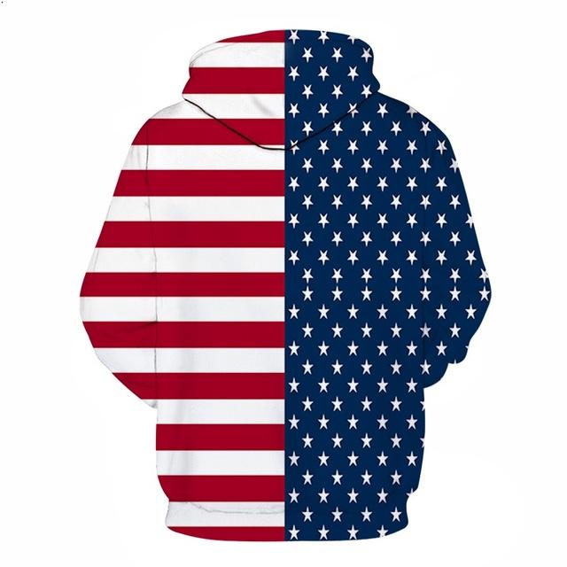 AMERICAN FLAG EAGLE 3D HOODIES