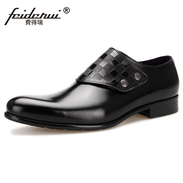 High Quality Handmade Man Monk Shoes Luxury Brand Genuine Leather Wedding Oxfords Formal Dress Men's Bridal Office Flats MG50