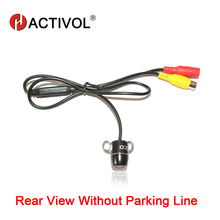 Without parking line Universal night view rear camera Waterproof small butterfly plug in universal backup Camera
