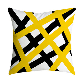 6a25e5ae4a0 4 pc geométrica amarillo cojín del patrón de 45x45 cm funda de almohada  casa decoración de poliéster confort funda de almohada fundas de almohada