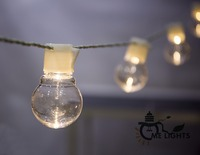 Novelty Outdoor Lighting 5cm LED White Ball String Lamps White Wire Christmas Lights Fairy Wedding Garden