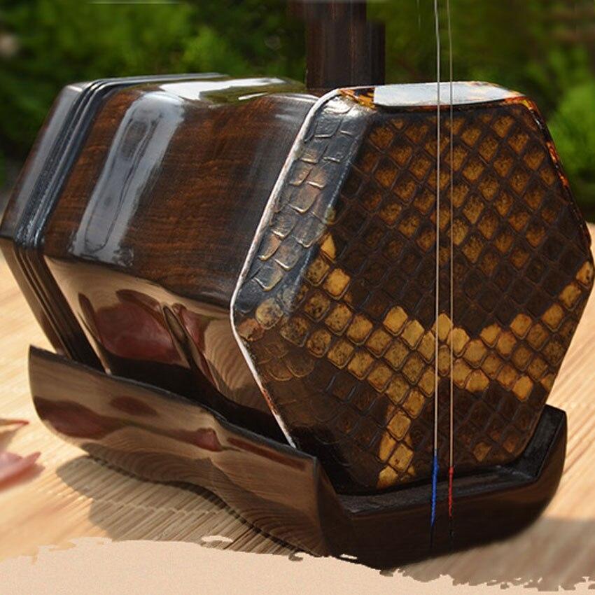 Traditonal Chinois Erhu Palissandre Professionnel Musical Instruments À Cordes Suzhou Erhu Avec Accessoires et Anglais Livre