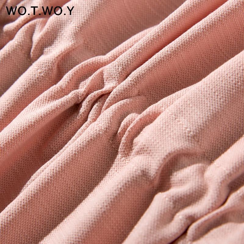Long T-shirt Dresses Women Summer Sashes Waist Slit Casual O-Neck Short Sleeve Loose Ankle-Length Dress Woman Pink Cotton 1