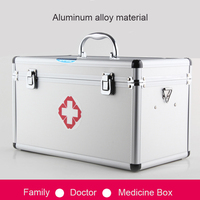 Multifunctional Home Large Medical Box Practical Family Hospital Emergency Medicine Collection Aluminum Hand Held Drug Box