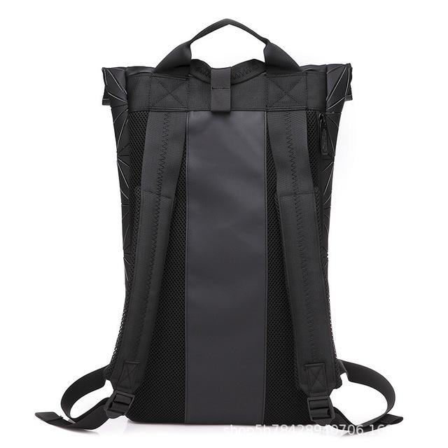 Luminous Geometric Design Large Women's Backpack