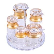 Акриловая подставка для бутылок с соевым соусом, 6 шт. в наборе, бутылка с уксусом, порошок, огнетушители, соль и перец