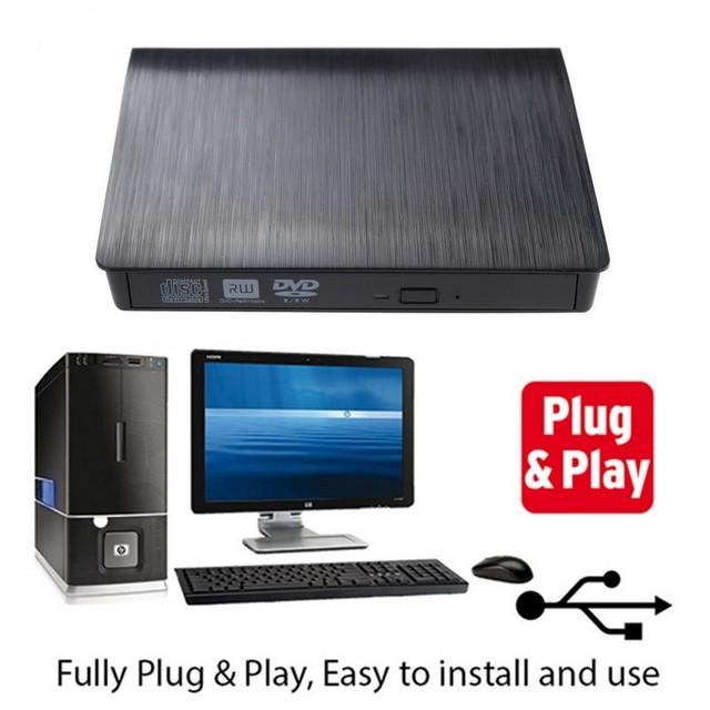 Unidade Óptica portátil Removível Caixas ECD819 Kit SATA Drive externo Slim USB drive para o computador para Notebook de Desktop