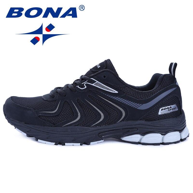 BONA Neue Ankunft Heißer Stil Männer Laufschuhe Lace Up Atmungsaktive Bequeme Turnschuhe Im Freien Zu Fuß Schuhe Männer Kostenloser Versand