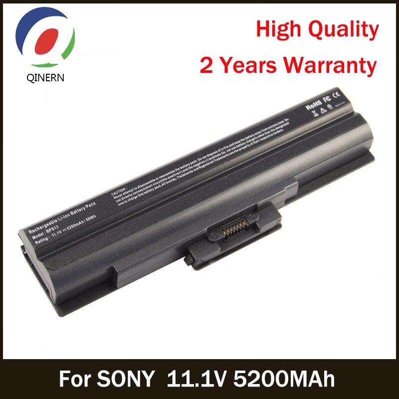 QINERN 11.1V 5200MAh SA-BPS13 battery For SONY battery For SONY VAIO SR Series VAIO FW series For SONY Business Batteries
