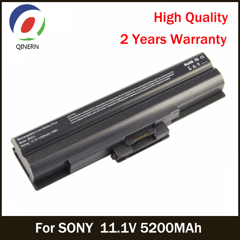 QINERN 11.1V 5200MAh SA-BPS13 battery For SONY Laptop battery For SONY VAIO SR Series VAIO FW series For SONY Business Batteries