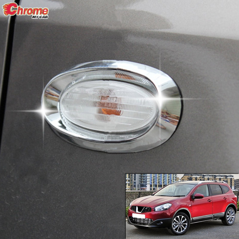 Chrome Rearview Side Door Mirrors Cover Trim For Nissan Qashqai Dualis 2010-2013