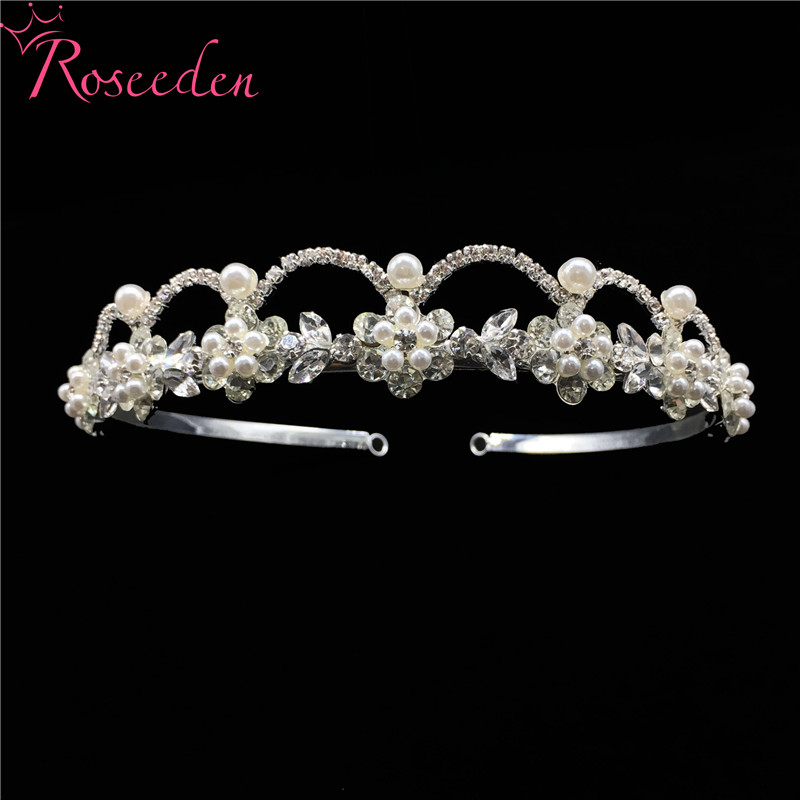 Купить романтические узорчатые стразы свадебная диадема из кристаллов
