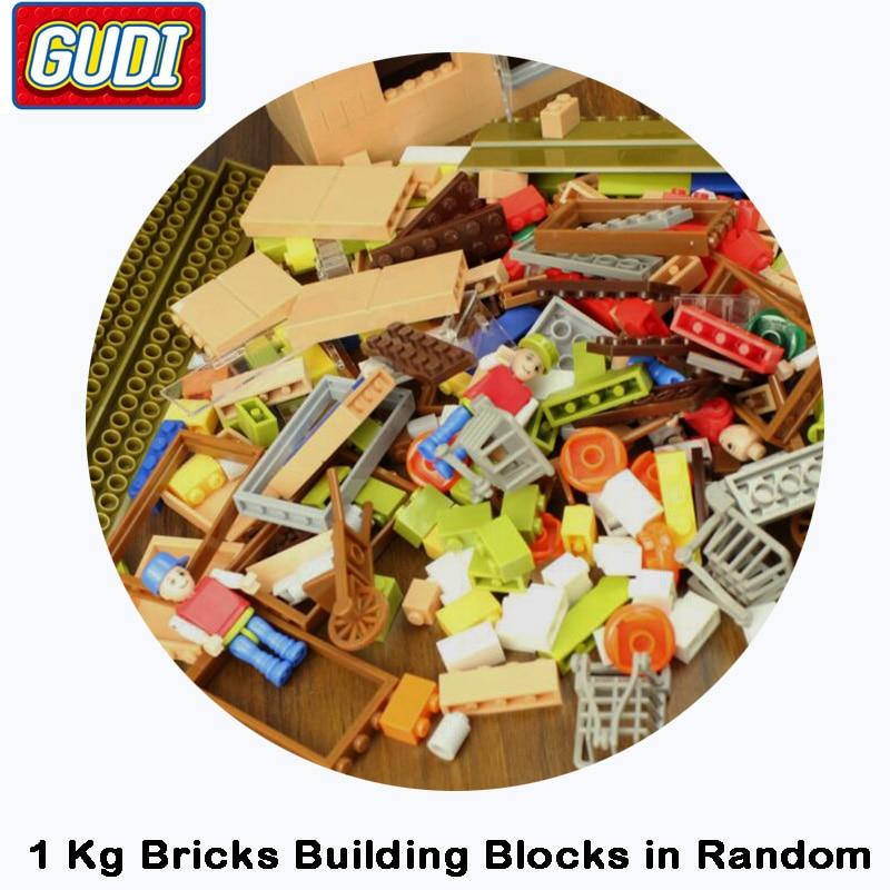 GUDI 1kg Bricks Building Blocks in Random DIY Creative Educational Toys For Children Designer no Original Box c012 original blocks educational toys