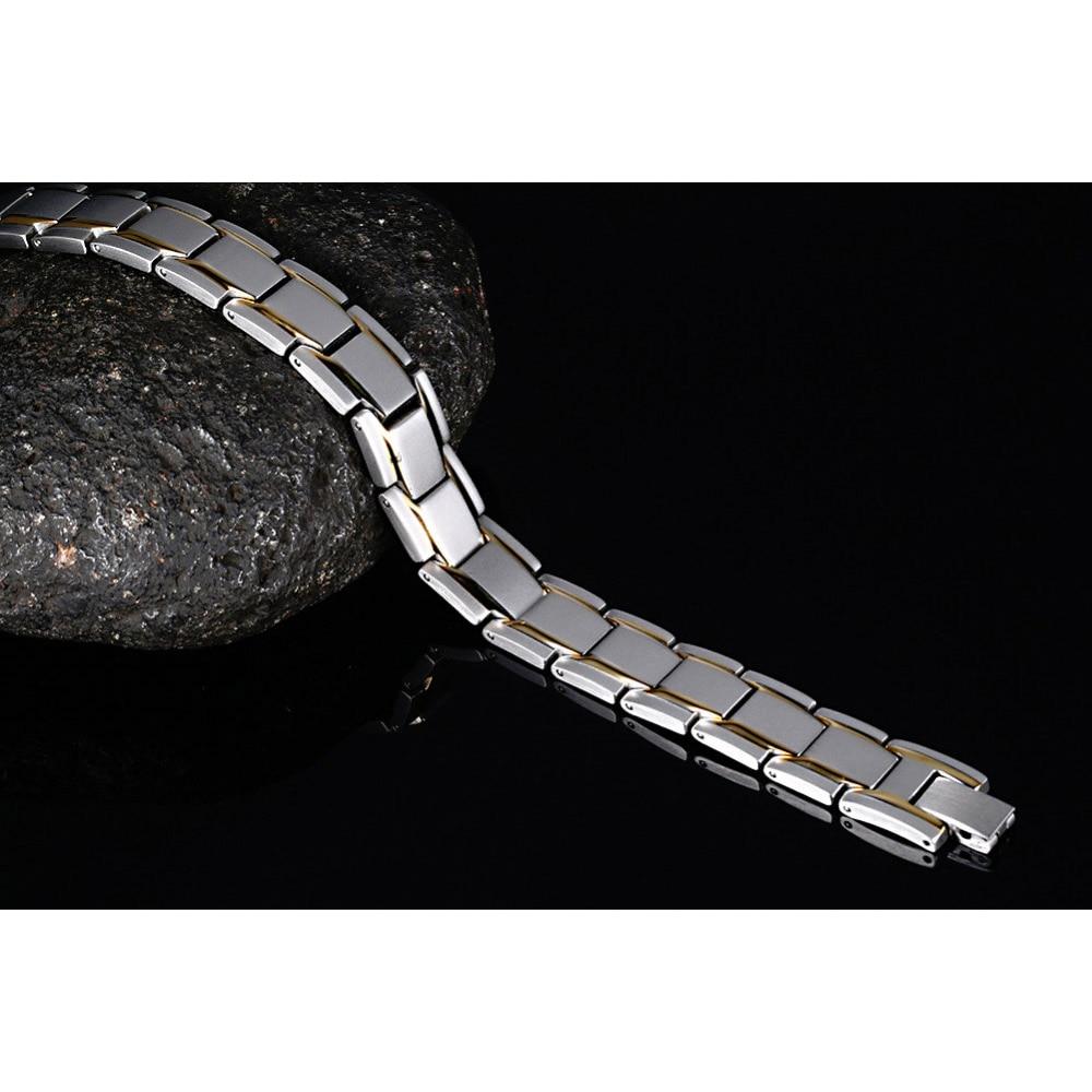 Vinterly männer Handkette Gold-farbe Armband Heilende Energie - Modeschmuck - Foto 6