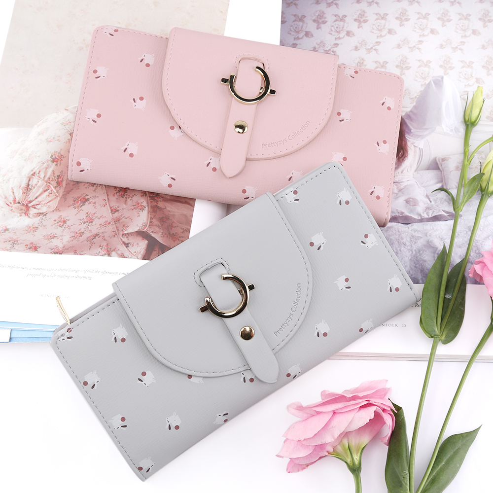 a85d119355d0 US $7.92 36% OFF|Aliexpress.com : Buy Women Lovely Long Wallet Leather  Zipper Coin Purse Hasp Female Fashion Animal Ladies Wallets Portable Purses  For ...