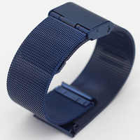 Milanese 10mm 12mm 14mm 16mm 18mm 20mm Golden Rose Gold Blue Stainless Steel Watch Band Milan Mesh Strap Metal Watch Bracelets