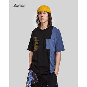 Image 2 - SODA SU Büyük Boy Baskı T shirt Üst Marka Giyim erkek Kısa Kollu Tshirt Streetwear Hiphop Gevşek pamuklu bluz Tees 91218S