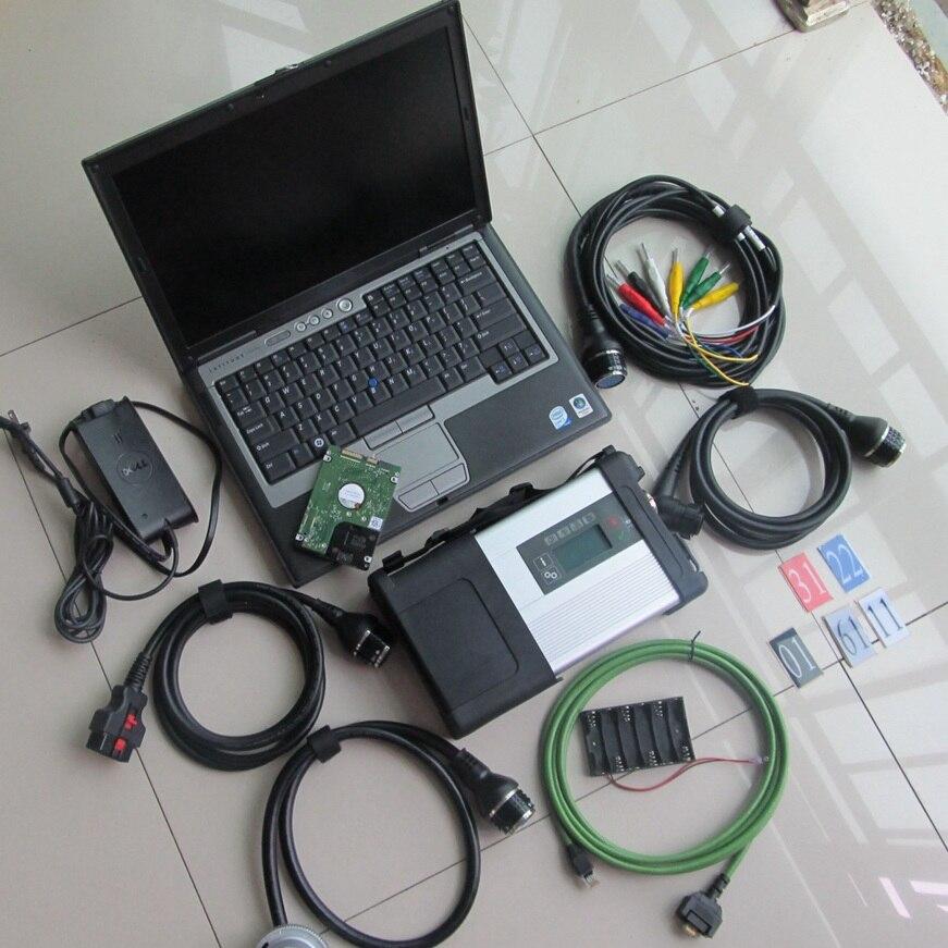 2018.09 v outil De Diagnostic MB Star C5 SD Connecter Ainsi qu'un Ordinateur Portable D630 HDD Diagnostic Logiciel pour Mb Étoiles C5 Soutien MB Voitures et Camions