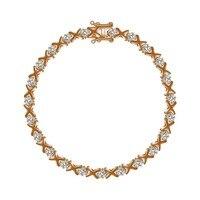 925 пробы серебро высокое качество роскошные кубического циркония браслеты золото для женщин ювелирный подарок