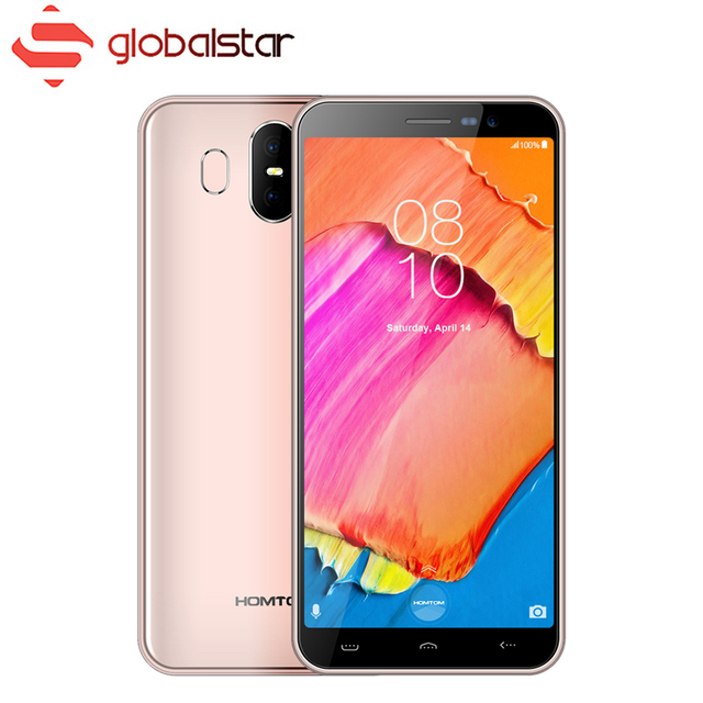 Homtom S17 MT6580 Quad Core 5.5 inch HD+ Screen Smartphone 2GB RAM 16GB ROM Phone 13MP+2MP Dual Back Cam Face ID Mobile Phone
