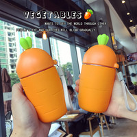 300ml Lovely Carrot Bottles With Silicone Heat Resistant Cover Portable Leak Proof Seal Outdoor Glass My
