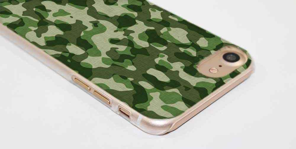 PlusCamouflage نمط كامو العسكرية أزياء شفافة حالة غطاء ل فون XI R 2019 XS ماكس XR X 4s 5s SE 6 6s 7 8 زائد