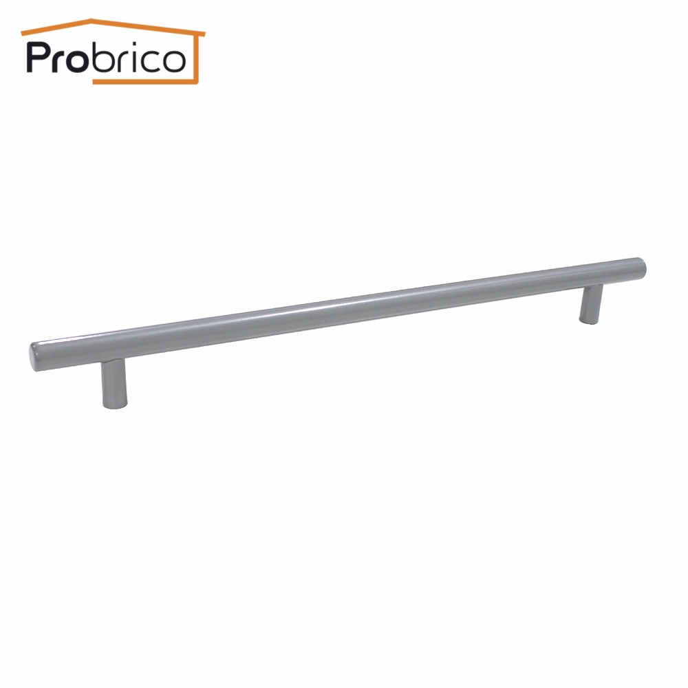 Probrico Grey Stainless Steel Kitchen Cabinet Handle Diameter 12mm Hole to Hole 256mm Furniture Drawer Knob Pull PD201HGY256 mini stainless steel handle cuticle fork silver