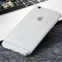 KISSCASE For iPhone 5s 5 SE 6 6S 7 Plus Case Clear Crystal Slim Cases For iPhone 7 6 6s Plus 5S 5 SE Soft Silicone Acrylic Cover