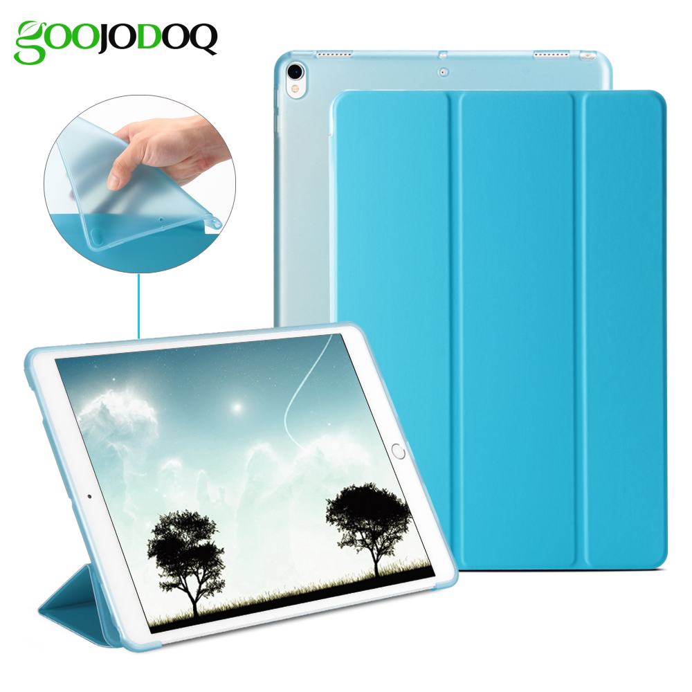 For iPad Pro 10.5 Case,Silicone Soft Back+Ultra Slim PU Leather Smart Cover Auto Sleep/Wake for iPad 2017 10.5 inch Coque A1701 for ipad pro 9 7 5 shapes smart case soft tpu back case slim pu leather magnetic cover for ipad 7 air 3 auto sleep wake a66