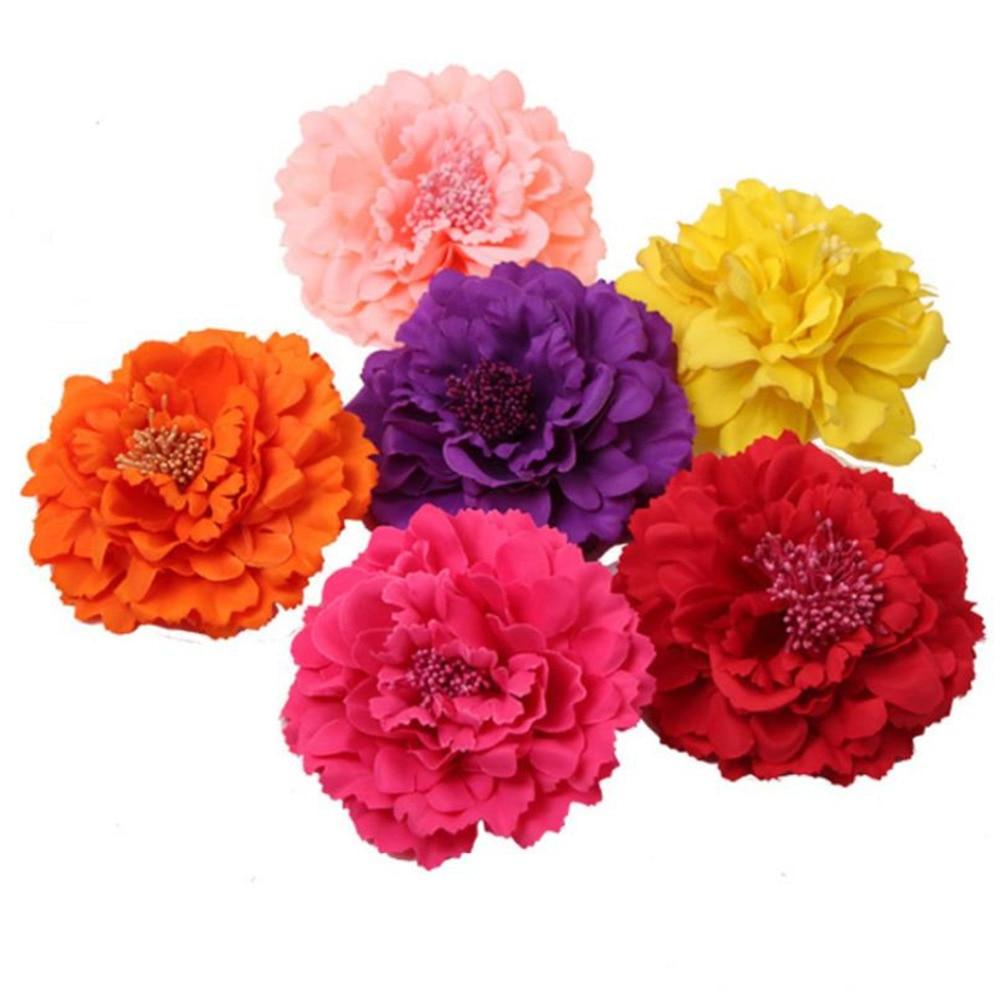 Doreenbeads 11cm Dia Big Peony Fake Silk Flowers For