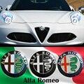 74mm Car styling Color Especiales para ALFA ROMEO cruz roja Logo emblema etiqueta Insignia de Mito 147 156 159 166