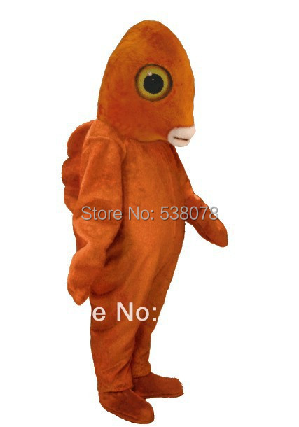 1f3cab06638 Orange Garibaldi Fish Mascot Costume Sea Animal Mascotte Outfit Suit Fancy  Dress for Stage Props TV Advertising Carnival SW683