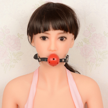 2016 new hot sale Adults Games Red ball taste mouth plug Oral Fixation Sex Toys for Women Couples Leather Erotic Toys