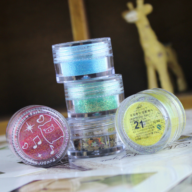 C003 mejor calidad encantador brillo de uñas polvo de arcílico