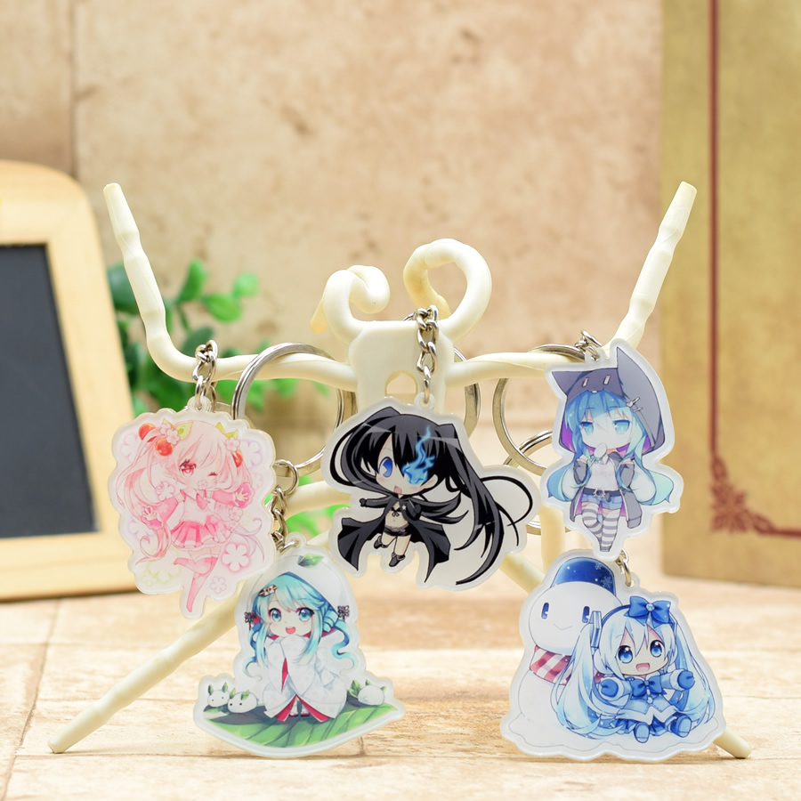 Hatsune Miku Acrylic Keychain Anime Pendant Car Key Accessories Cute Japanese Game Key Ring SS78-84 XS-2 ...