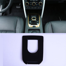 Gloss Black ABS Plastic Gear Shift Panel Cover Trim For Land Rover Discovery Sport 2015-2017 Car Accessory решетка радиатора gloss narvik black для land rover discovery 5