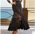 Ballroom dance costume sexy lace Fishtail ballroom dance skirt  for women ballroom dance competition skirt 6kinds of colors