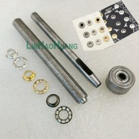 12mm round metal brass rhinestone eyelets glass grommets DIY 1 sets hand press tools and DIY1 sets Mobile tools